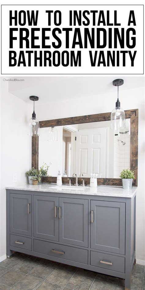 freestanding bathroom vanity how to install a freestanding bathroom vanity cherished bliss