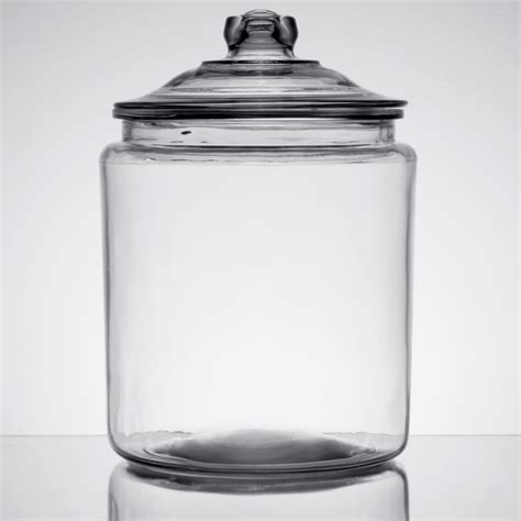 glass jars anchor hocking 69372ahg17 2 gallon glass jar with lid