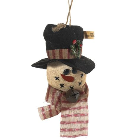 Wedding Shower Favor Bags by Primitive Snowman Ornament Christmas Ornaments