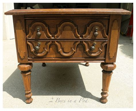 chalk paint end tables blue painted end table makeover 2 bees in a pod