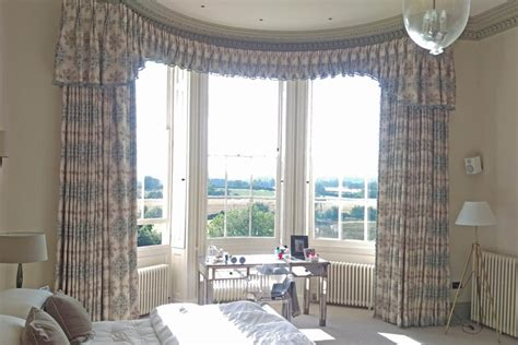 curtain track with pelmet curved bay window pelmet curtains moghul interiors