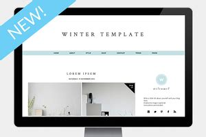winter templates for blogger popular website templates creative market