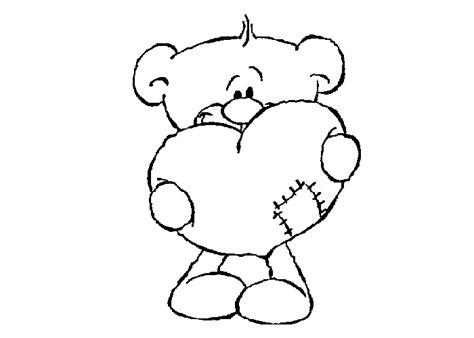 Imagenes De Osos Con Corazones Para Colorear   oso con corazon para colorear e imprimir
