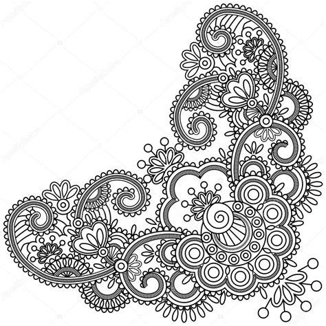 mehndi elephant coloring page colorful henna elephant images