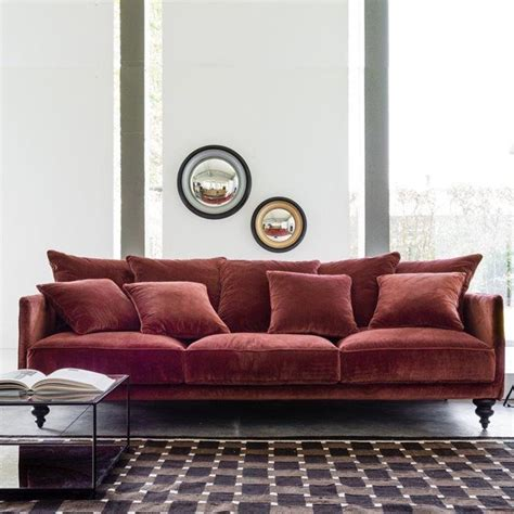 Raspberry Velvet Sofa by 25 Best Ideas About Sofa Pillows On Throws