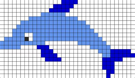 dolphin bead patterns dolphin perler bead pattern bead sprites animals fuse
