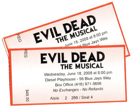 Last I Saw Evil Dead The Musical A Revi by Go See Evil Dead The Musical It S A Must See For Your