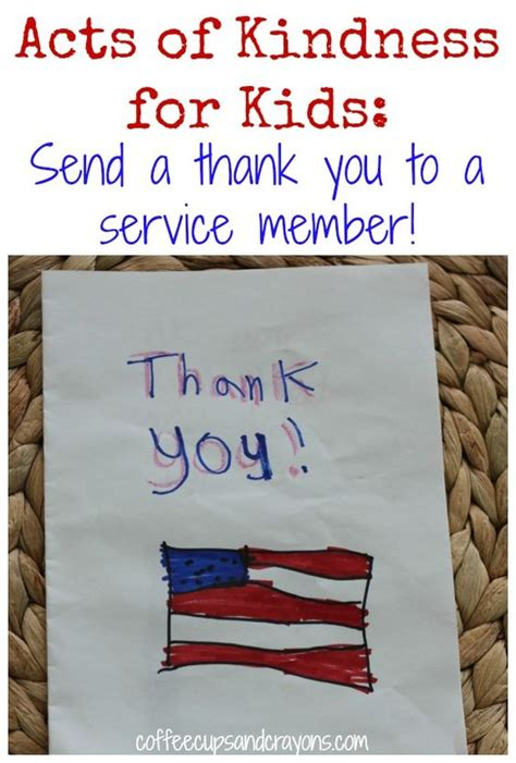 Thank You Cards For Service Members Template by Acts Of Kindness Send A Thank You To A Service Member