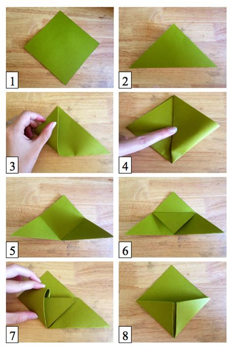Folded Paper Corner Bookmark - how to how and how much how to make origami