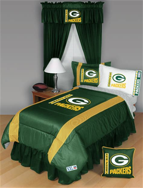 green bay packers bedroom nfl green bay packers sidelines bedding set