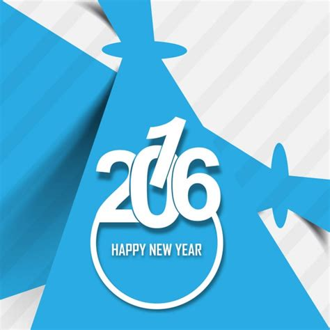 new year 2016 greeting card free stylish greeting card of new year 2016 vector free