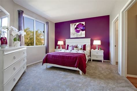 purple accent wall in bedroom a orchid toned accent wall ads a youthful yet