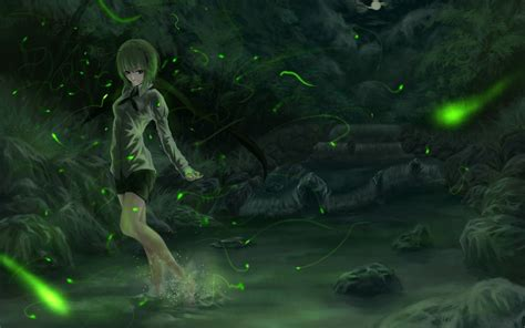anime girl with fireflies night girl and fireflies wallpapers 1680x1050 869514
