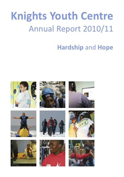 Youth Annual Report Template Knights Youth Centre Annual Report 2010 11