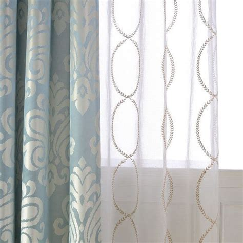 sheer curtains with pattern a pair of gold leaf infinity patterned embroidey sheer