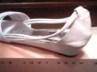 mitmoet shop sepatu balet putih kulit imitasi