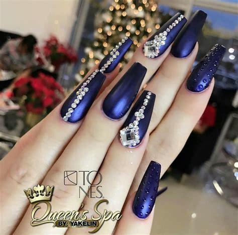 imagenes de uñas acrilicas azul marino las 25 mejores ideas sobre u 241 as azul rey en pinterest y