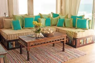 moroccan sofa moroccan style sofa in reclaimed wood eclectic living