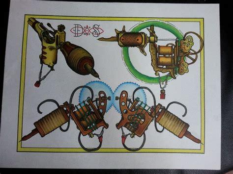 tattoo machine flash tattoo flash tattoo machine flash sheet by bass slinger