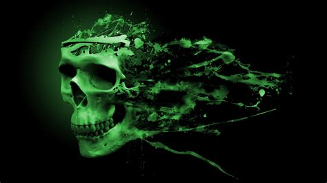 wallpaper green skull green skull wallpaper wallpapersafari
