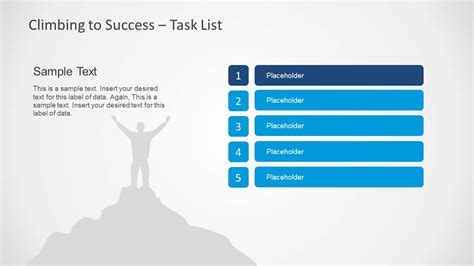climbing to success powerpoint template slidemodel