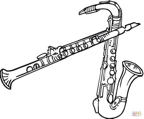 clarinet line drawing