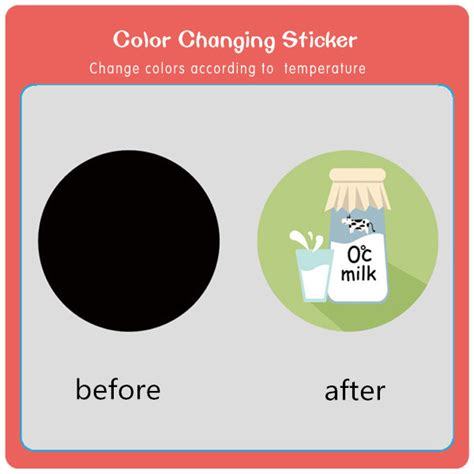 color stickers reversible custom color change sticker by temperature