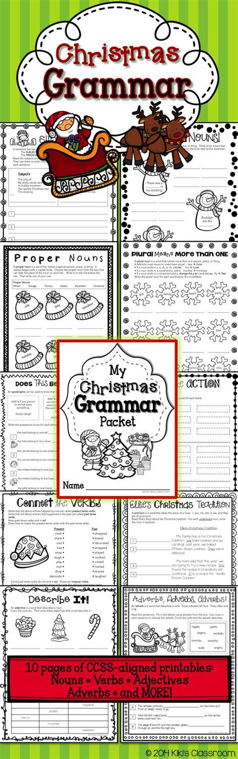 2nd grade grammar christmas best 25 nouns and pronouns ideas on 2nd grade grammar act reading practice and adverbs