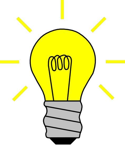 Idea Lamp Light Bulb On Clip Art At Clker Com Vector Clip Art