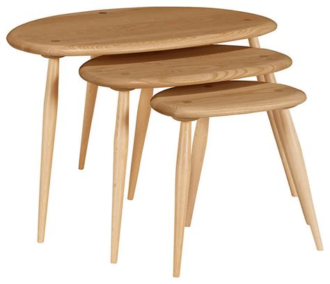 Ercol Side Table Ercol Kimble Nest Tables M S Modern Side Tables End Tables By Marks Spencer