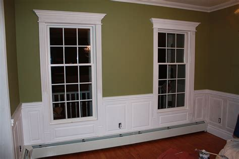 Wainscoting Around Windows custom wainscoting dining room pictures great ideas