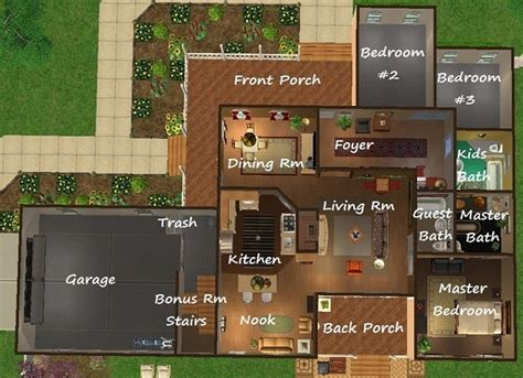 1 sth floor mod the sims suburban appeal traditional house no cc