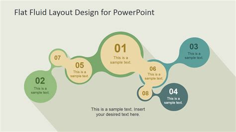 fluid layout email template flat fluid layout design for powerpoint slidemodel