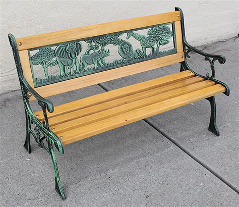 kids park bench kids park bench wooden bench cast iron leg garden outdoor