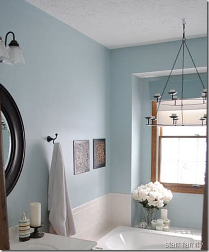 blue taupe bathroom agrees with taupe tile and oak trim