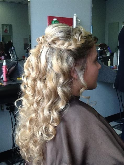 homecoming hairstyles half up curly with braid prom updo 2013 half up braid and curls hair is my