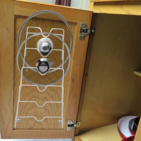 cabinet door lid rack canada evelots cabinet door and wall pot lid storage rack for 6