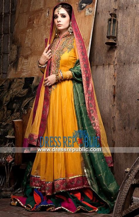 Latest Bridal Mehndi Dresses Designs 2016 2017 Collection