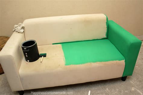 Spray Paint Leather Sofa How To Easily Make A Sofa With Paint Happiness Is