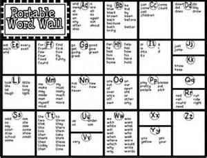 Portable Word Wall Template by Portable Word Wall Freebie Sight Words