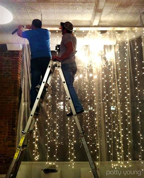 hanging christmas lights in windows easy 38 best images about lights hanging from curtains on curtain rods outdoor bedroom