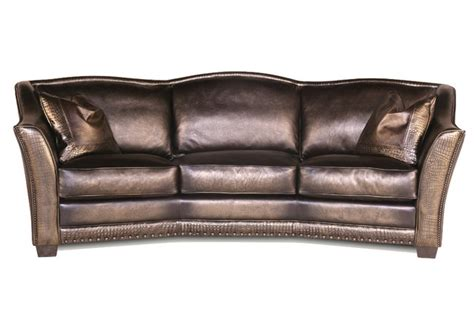 Leather Conversation Sofa Basilica Leather And Croc Conversation Sofa Transitional Sofas By All Things Furniture