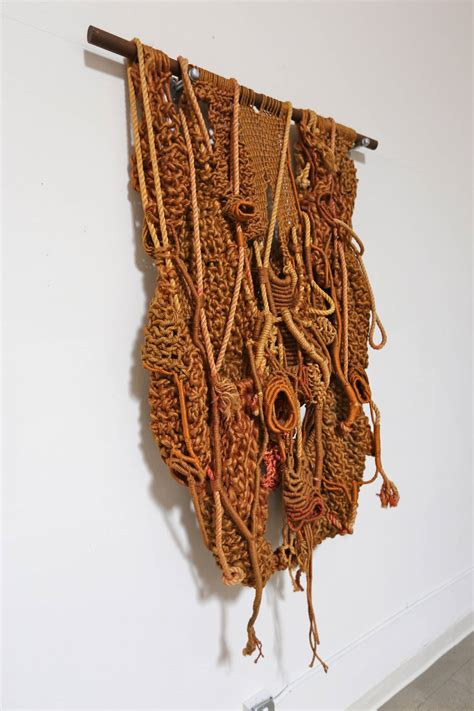 Large Macrame Wall Hanging - large sculptural macrame wall hanging at 1stdibs