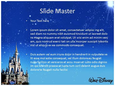 Disney Powerpoint Walt Disney Template Powerpoint Graphics Disney Powerpoint Template Free
