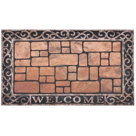 modern doormat flocked rubber modern welcome design doormat floor 75cm