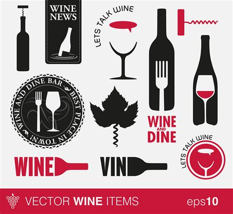 icon design wine restaurant menu graphics and icons for delectable design