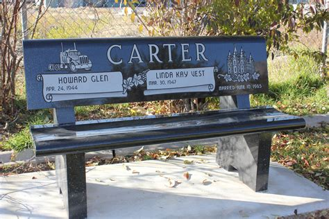bench headstones benches beesley monument granite headstones grave markers monuments and vaults