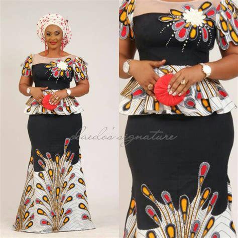 nigerian ankara skirt and blouse styles peplum ankara skirt and blouse styles dezango fashion