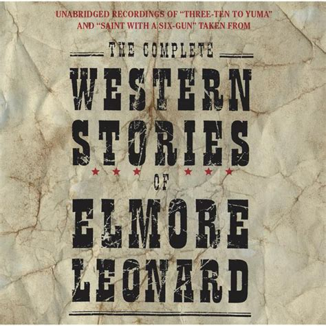 complete western stories  elmore leonard cd