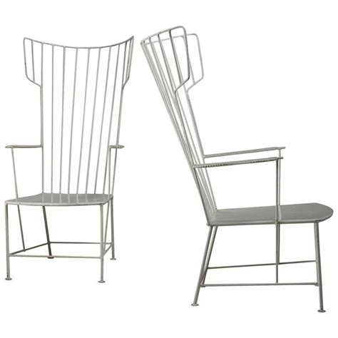 white metal patio chairs praun and lauterbach pair of white metal garden chairs austria 1950s for sale at 1stdibs